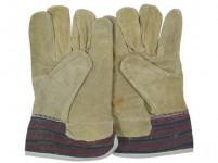 rukavice TERNO tkanina / žltá štiepenka (12ks)
