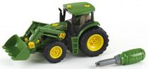 John Deere Traktor s předním nakladačem