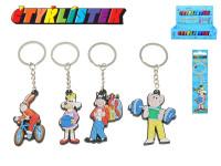 Prívesok na kľúče Štvorlístok 5 cm na karte - mix variantov či farieb