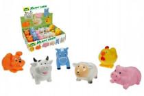 Zvieratká striekacie 7cm Veselá farma gumová - mix variantov či farieb