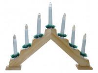 svietnik vianočné el. 7 sviečok, ihlan, driev. prírodné, do zásuvky