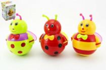 Kývající se včelka roly poly plast 17cm na baterie se zvukem - mix variant či barev
