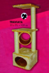 Škrabadlo Traviata pieskové 35x35x109 cm