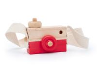 Foťák - drevená montessori hračka, červená