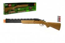 Pištoľ / Puška / Brokovnica lovecká + 4 náboje plast 77cm na batérie