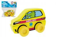 Moje první auto Ambulance krokodýl žluté pěna 10cm