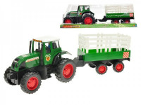 Traktor s vlečkou plast 43cm na setrvačník