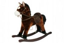 Kůň houpací hnědý plyš nosnost 50kg