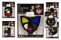 Barvy obličejové na kartě karneval - mix variant či barev