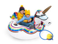 Set Nafukovacie klzák Jednorožec na sneh, Cuculi s nožný pumpou