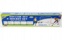 Bránka futbal + hokej 2v1 s doplnkami plast