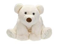 Ľadový medveď plyšový 37 cm sediaci