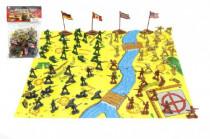 Vojaci s mapou a doplnky plast - mix variantov či farieb