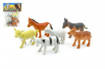 Zvieratká mláďatá domáci farma plast
