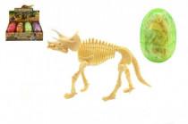 Dinosaurus vo vajíčku model plast - mix farieb