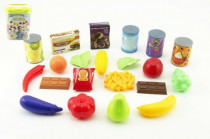 Ovoce a zelenina 60ks/Kuchyňské nádobí 42ks + doplňky plast v plastovém boxu - mix variant či barev