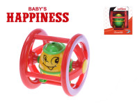 Chrastítko válec 13 cm Baby´s Happiness - mix barev