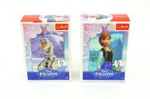 Minipuzzle Ľadové kráľovstvo / Frozen 13x20cm 54 dielikov - mix variantov či farieb