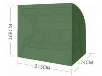 plachta krycia na hojdačku 215x124x168-143cm so zipsom PE 110g / m2