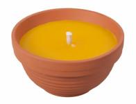 Sviečka citronelou žardinky s knôtom 190g d11x6cm