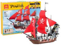 Stavebnica wang - pirátska loď