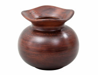 Váza O WOOD keramická tmavo hnedá matná v14cm