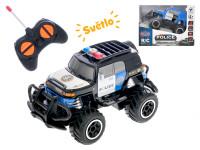 R / C auto terénne polícia 14 cm 1:43 27 MHz plná funkcie na batérie so svetlom - mix farieb