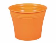Obal na květník MERCEDES plastový oranžový d15x13cm