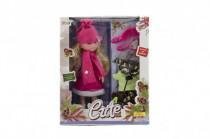 Bábika s doplnkami zimné oblečenie plast 33cm - mix variantov či farieb