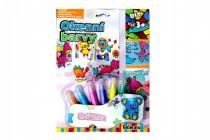 Okenné farby trblietavé pre dievčatká 6ks + predlohy na karte