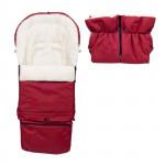 Set - rastúca fusak 3v1 Arctic wool a rukávnik, ovčia vlna, tmavo červený, Cuculo