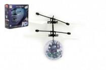 Vrtulníková koule létající plast 13x11cm s USB kabelem na nabíjení