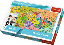 Vzdelávacie puzzle mapa Českej republiky 44 dielikov 60x40cm