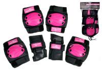 Chrániče menšie 6 ks ružovo-čierne