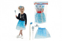 Kostým / sukne princezná Ľadové kráľovstvo s doplnkami v sáčku karneval