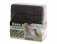 Dlaždice EASY SQUARE záhradné čierna 40x40x2cm 9ks