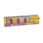 Plastelína - veľké kelímky perleťové 5 farieb á 141g