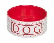"""Miska keramická """"Dog"""" červená Nobby 15 x 6 cm"""