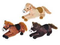 Kôň plyšový 31 cm ležiaci - mix farieb