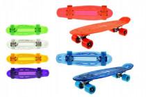 Skateboard pennyboard so svetlom 55cm nosnosť 50kg - mix farieb
