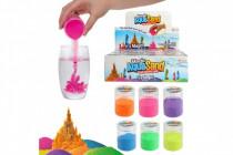 Piesok vodné čarovný 6 farieb v plastovej dóze