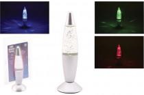 Lávové lampa s glitrami 20 cm