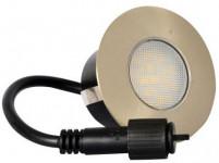 svietidlo LED zápustné pr.9,5cm, 3W, IP67 teplé, do dreva, pochôdzne