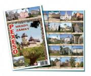 Pexeso Hrady a zámky společenská hra 32 obrázkových dvojic 26x23cm