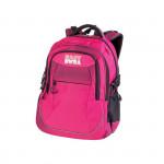 Easy flow 920745 Batoh školní tříkomorový růžový, profilovaná zádá, 26 l