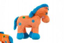Kůň plyš 30cm chodící na baterie