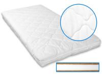 Detský matrac 120x60x6 cm, kokos - molitan - kokos, biela, Cuculi