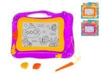 Magnetická kresliace tabuľka 33x26 cm - mix farieb