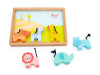Drevená zvieratká z Afriky - drevená montessori hračka