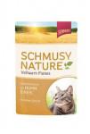 Schmusy Cat Nature Flakes kapsa kura + ryža + šťava 100g